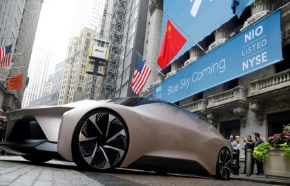 Chinese Electric Car Maker Nio Slumps Early, Closes Up, in its U.S. Debut