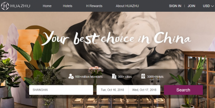 Huazhu Expects Higher Revenue in Third Quarter; Stock Climbs 2% Intraday