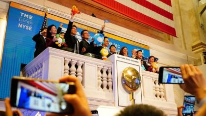 Tencent Music Rings the Bell at the NYSE; Stock Jumps 13% Above IPO Price