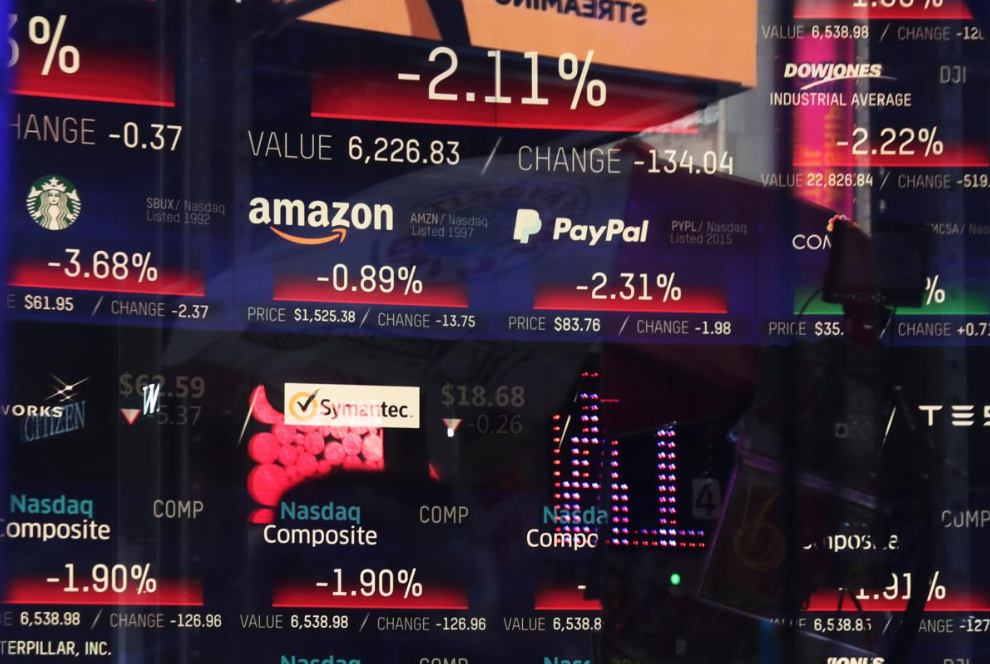 Wall Street Plunges as Factory Data, Apple, China Warning Fuel Slowdown Fears