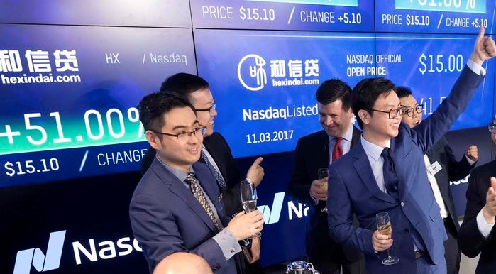 Hexindai to Begin Partnering with Phoenix Finance's P2P Platform; Shares Jump