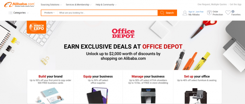 Alibaba.com Forms Partnership with Office Depot Targeting U.S. Small Businesses
