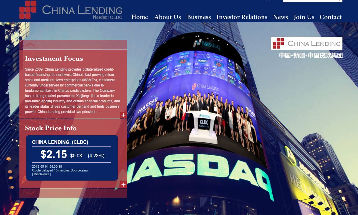 China Lending Stock Gets 11% Boost on Partnership With Rui Xin