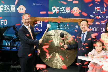9F Celebrates $85 Million IPO With a Warm Welcome From Wall Street