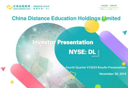 China Distance Sends Stock Up 8% on Third Quarter Results