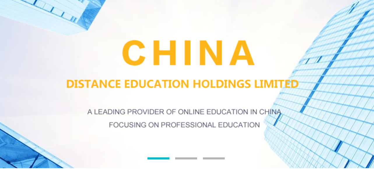 China Distance Education Reports Strong Financials; Stock Slips 3%