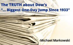 The TRUTH About Dow's Recent So-called Biggest One-Day Jump