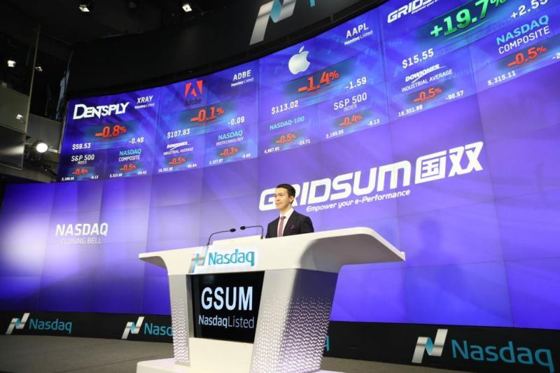 Gridsum Stock Doubles on $2 Per Share Buyout Bid