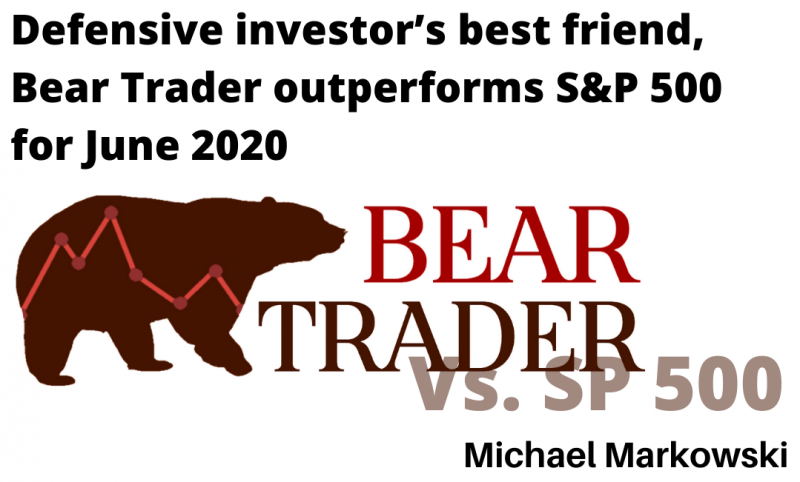 Bear Trader Outperforms S&P 500 for June 2020